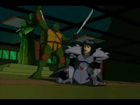 Teenage Mutant Ninja Turtles Leo Vs 2nd Shredder Karai Youtube
