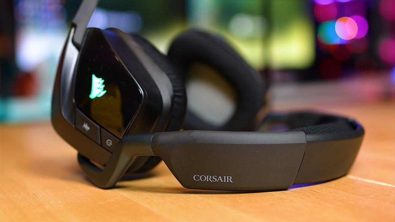 مراجعه السماعه المحيطيه الوايرلس Corsair Void RGB Elite Wireless