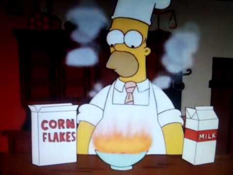 homero le hace el desayuno a burns