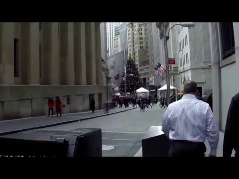 Walking in Financial District, Manhattan, New York City