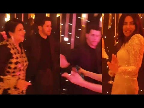 Nick Jonas Dance With Mother-in-law Madhu Chopra | Latest VIDEO | Mumbai Wedding Reception