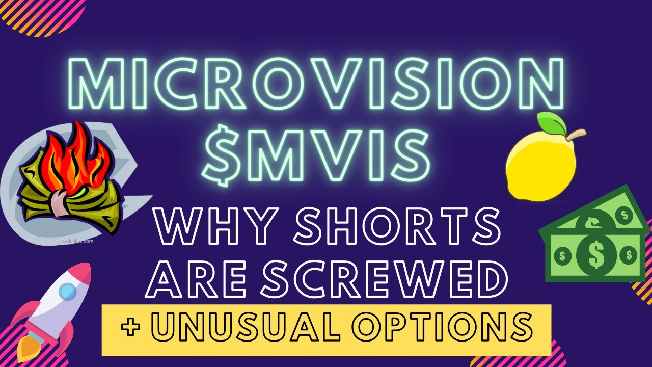 $MVIS MicroVision Short Squeezed 🍋😆 18.7% Short Interest + My Price Target! Unusual Options