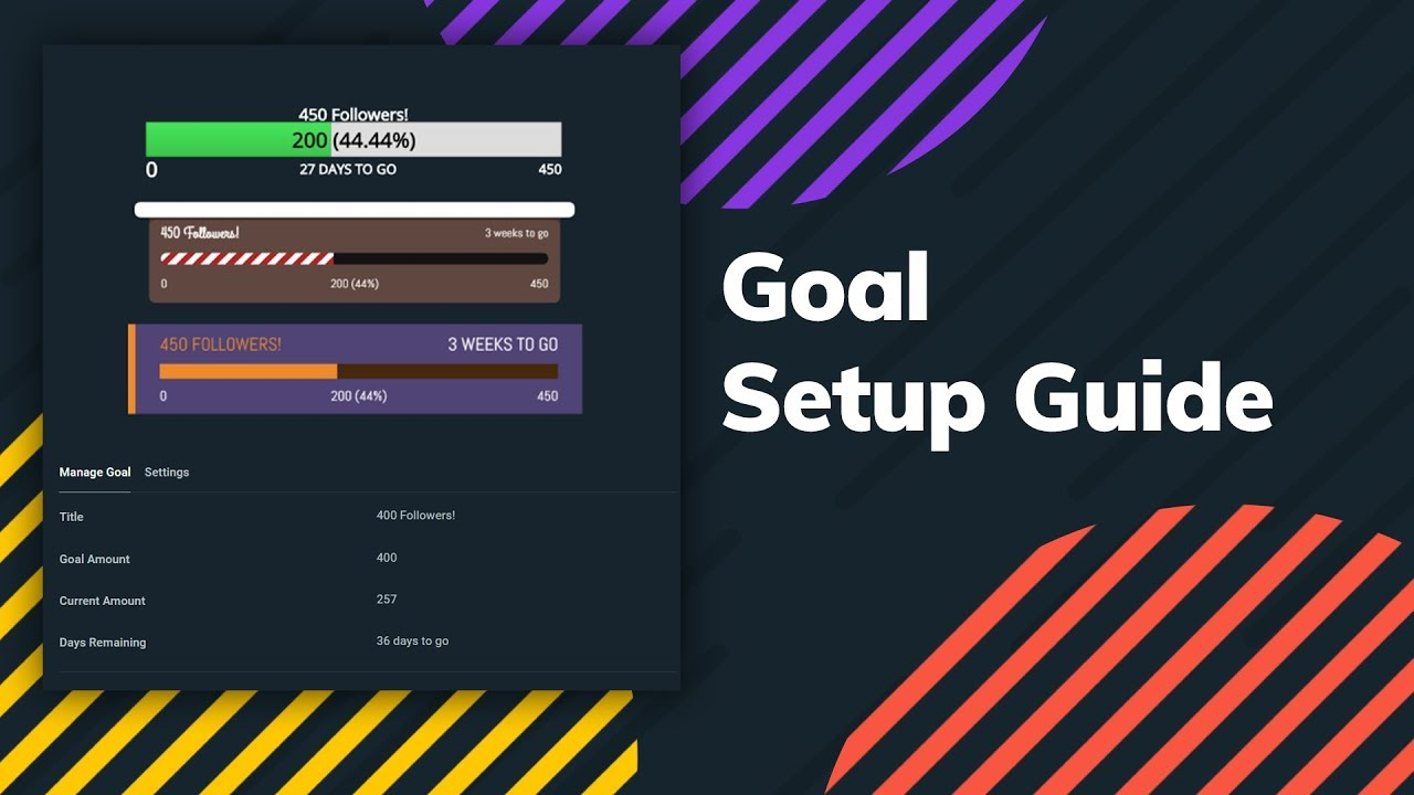 Streamlabs Donation Goal | Goal Overlay Bars for Twitch, Youtube