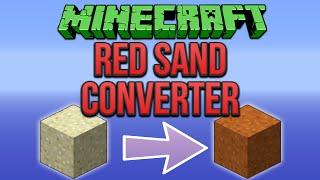 Minecraft: Red Sand Converter Tutorial (Minecraft 1.8)