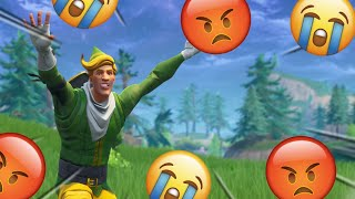 Salty Fortnite Players React To The Codename Elf Skin & Floss Emote