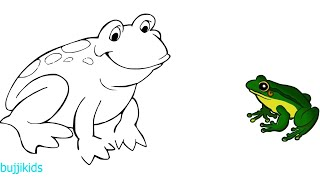 How to Draw Frog for Kids | Frog Easy Drawing | Line Drawing