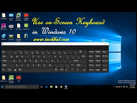 How to Settings Windows on-Screen Keyboard Windows 10  - YouTube
