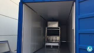 Container type 3 Ton Block Ice Machine Production