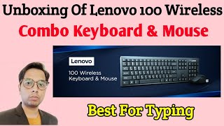 Lenovo 100 Wireless Combo Keyboard amp Mouse Unboxing Review Best Wireless Combo Hindi 2020