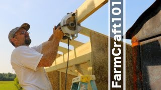 How to build a woodshed...on a sloped concrete slab.  FarmCraft101 DIY