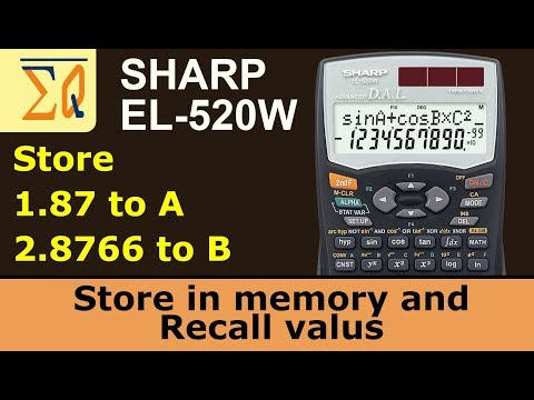 Using Memory With Sharp EL-520W