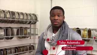 Toby Adamaku  - First Year Student  -  Civil Engineering @ LIT