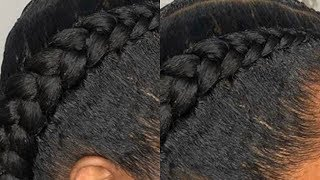 How To Do Feed In Braids ON YOURSELF Very Detailed