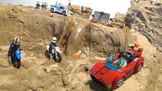 LEGO Dam Breach - LEGO City Police Chase and Crook Escape