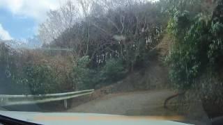 茨城県道42号線 急坂 筑波山入口 風返し峠へ