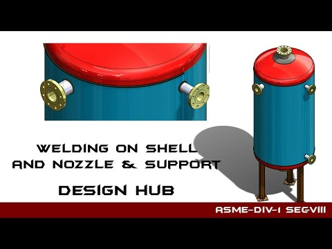 Welding on shell and nozzle