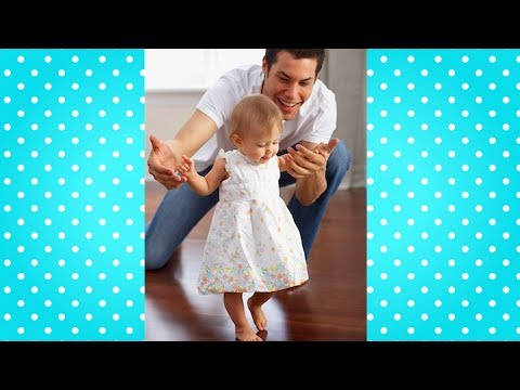 Baby First Steps with Daddy ???? Dad and Baby Cute Video