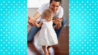 Baby First Steps with Daddy  Dad and Baby Cute Video