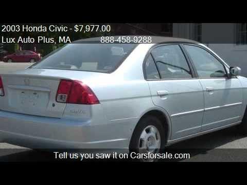Great 2003 Honda Civic HYBRID 48 MPG BLUE 98K MILES   For Sale In