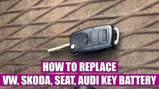how to change replace a vw skoda audi key remote battery