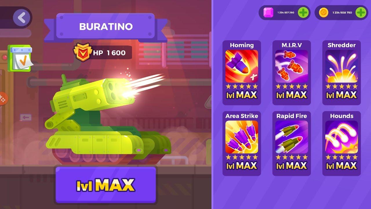Tank Stars BURATINO MAX Level