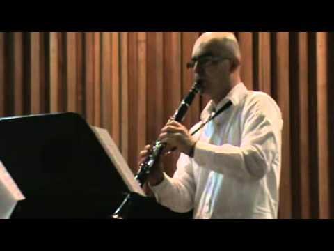 Clarinet sonata Saint saens 3 y 4 Mvts Jairo A. He...