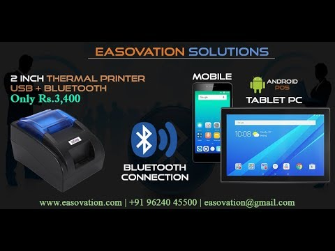 2 inch Thermal Printer Bluetooth & USB Connection With Android & windows  POS   HOIN Printer