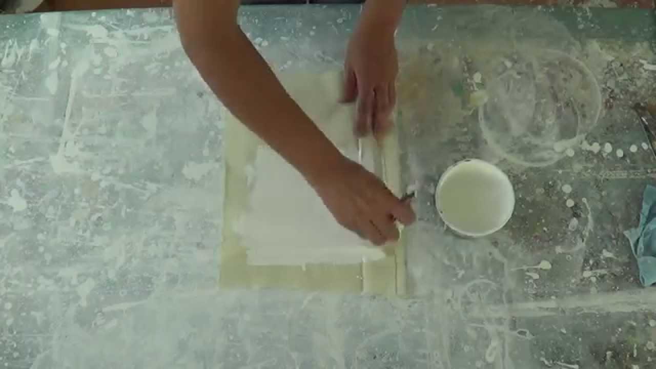 Pegar tela sobre madera para pintar con óleo o acrílico. Curso de ...