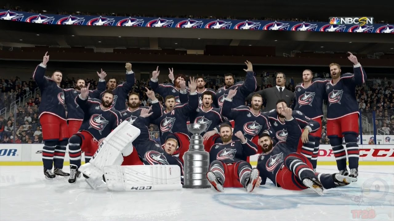 NHL 16 - Columbus Blue Jackets Stanley Cup Celebration - YouTube