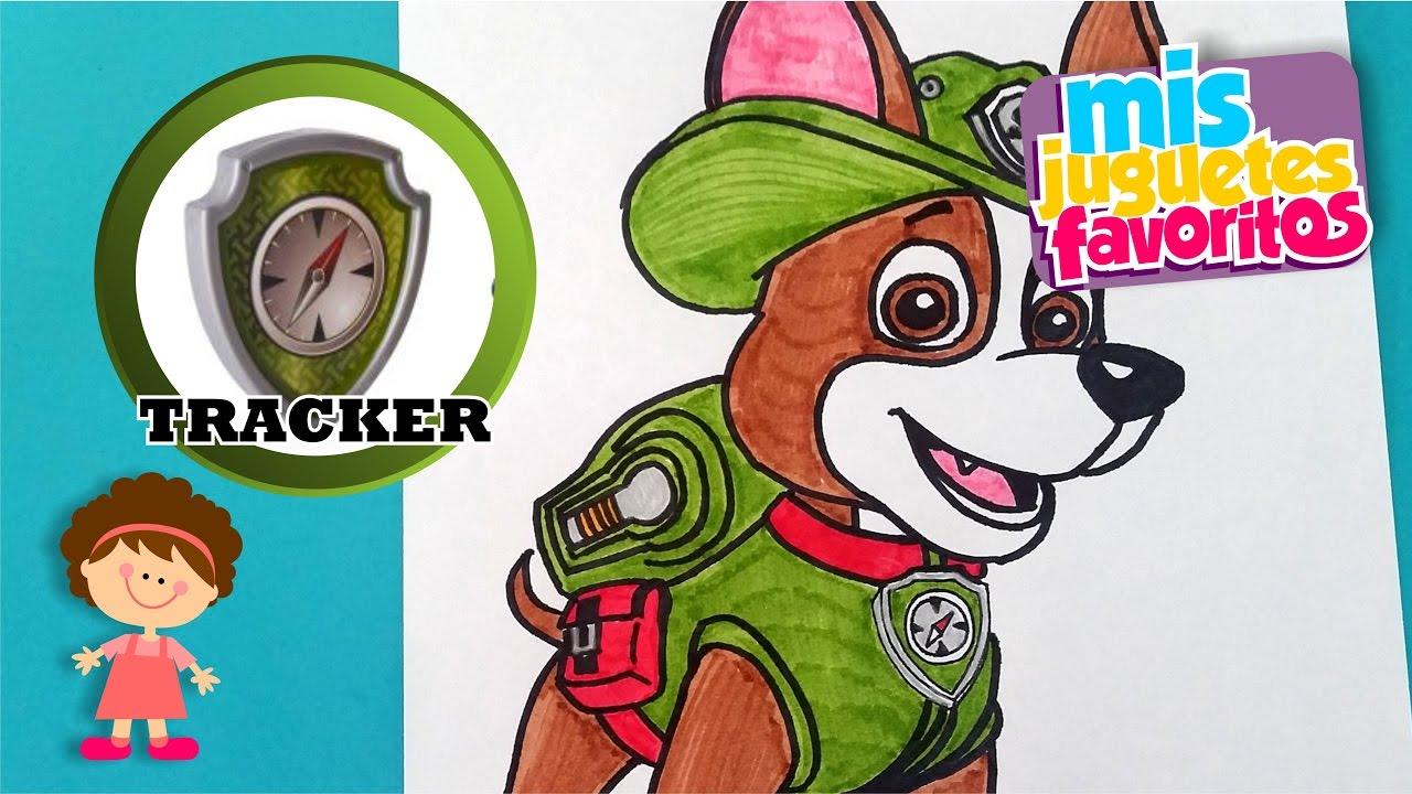 Dibujos Patrulla Canina En Color: Dibujando A Tracker De La Patrulla Canina