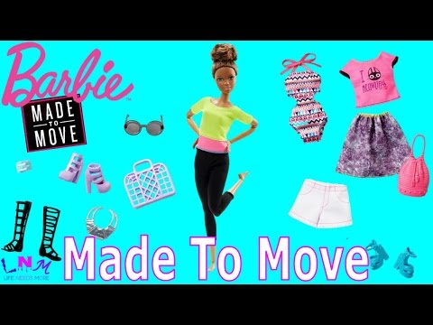 Barbie Made To Move Yellow Top Review! (+ Clothes & Accessories)
