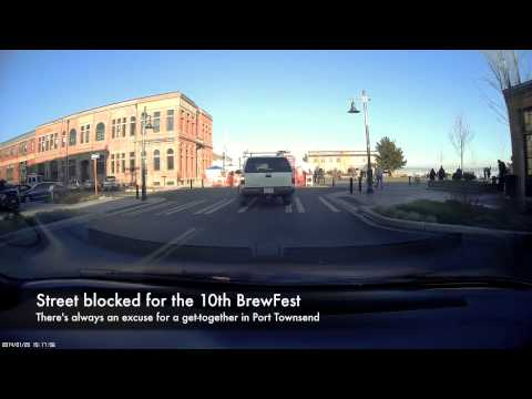 Dash Cam Through Downtown Port Townsend To The Post Office, 1/25/2014