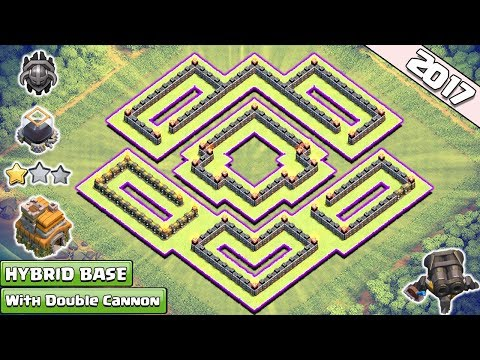 COC Town Hall 7(TH7) Hybrid Base with Double Cannon ♦ TH7 Trophy & Farming Base w new update