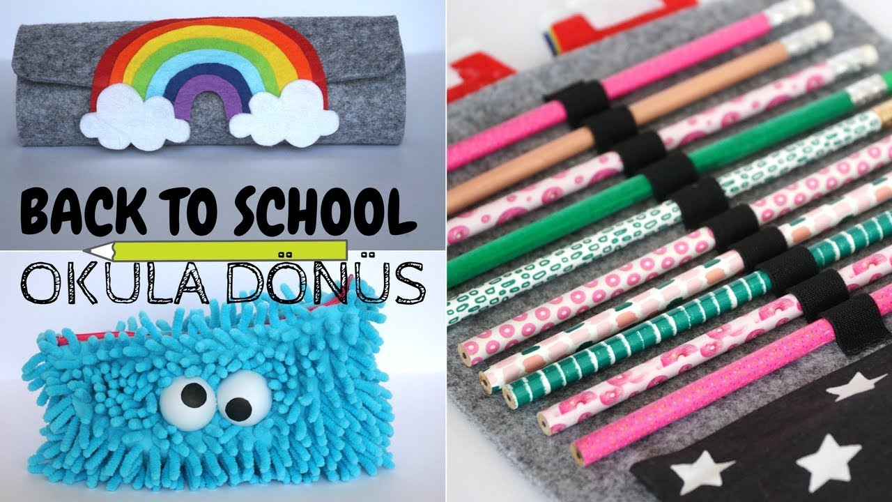 Dikişsiz 2 Farklı Kalemlik / No-Sew Pencil Cases / BACK TO SCHOOL