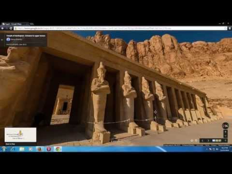 Mortuary Temple of Hatshepsut In Egypt, From Google Map