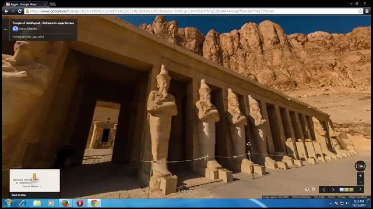 Mortuary Temple Of Hatshepsut In Egypt From Google Map