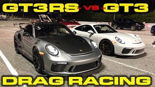 27 to 60 MPH  Porsche GT3RS vs GT3 Drag Racing 14 Mile with VBOX Data and Launch Control
