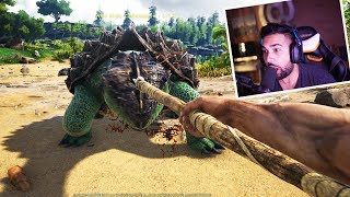 SURVIVING MY FIRST NIGHT - ARK: Survival Evolved Funny Moments