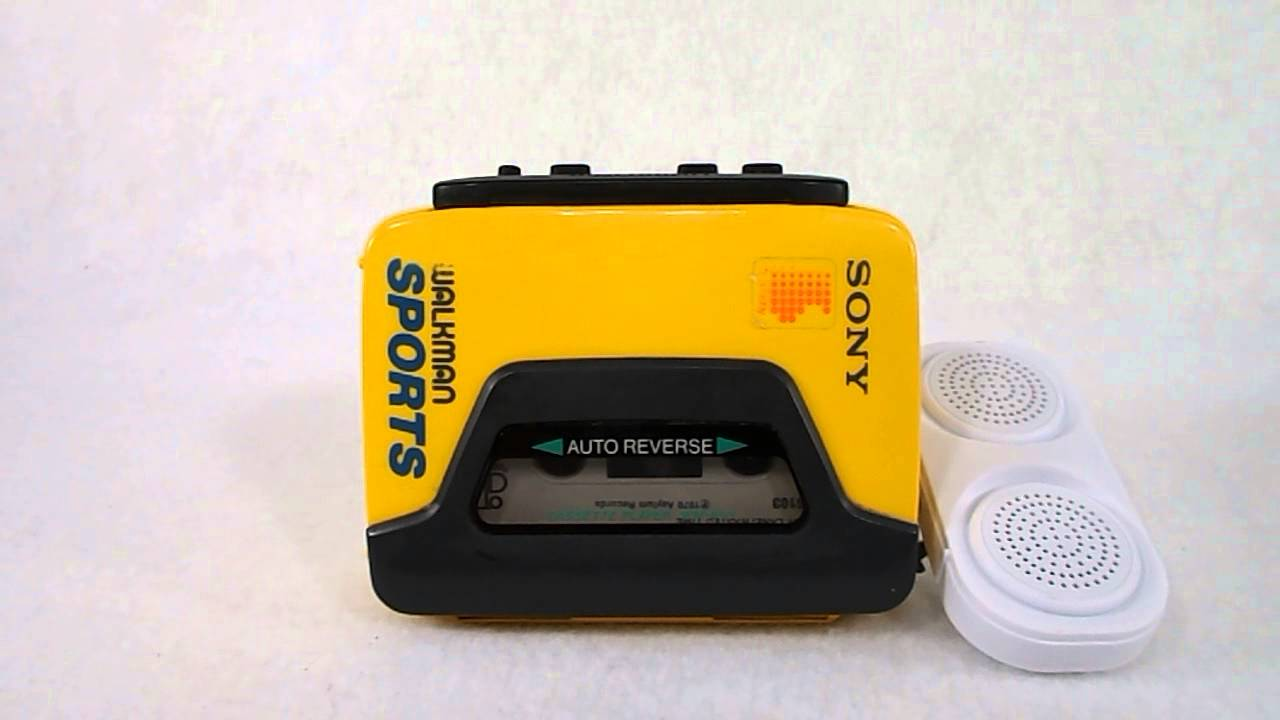 sony yellow walkman. sony sports walkman cassette player portable stereo wm-a53/b53 - youtube yellow a