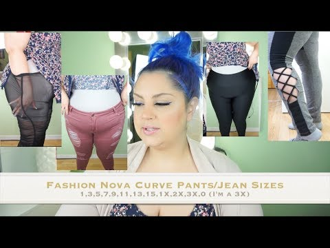 FASHION NOVA CURVE Pants/Jeans/Leggings Sizings and Try On Haul