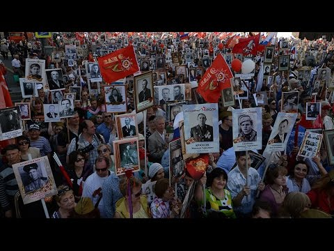 Immortal Regiment March on V-Day in Moscow (streamed live)