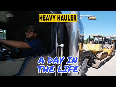 A Day In The Life Of A Heavy Haul Trucker | Kenworth Picking Up Dozer And Roller From Auction