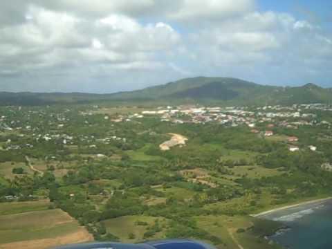 Jetblue Inaugural Flight Landing In St. Lucia