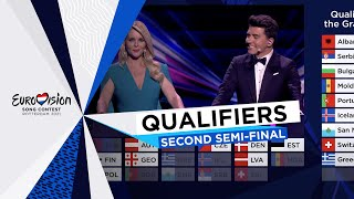 Qualifiers Annoucement - Second Semi-Final - Eurovision 2021