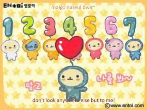 Korean number sg with coloring romanizati & translati