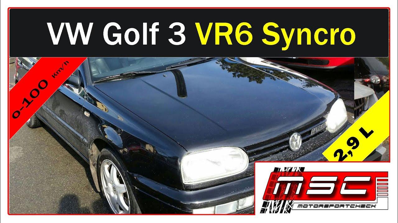 vw golf 3 vr6 2 9l syncro 0 100 by motorsportcheck youtube. Black Bedroom Furniture Sets. Home Design Ideas