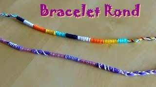 VERY EASY round bracelet for beginners - Tutorial