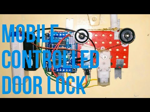 Automaic mobile door locking system or smart door lock