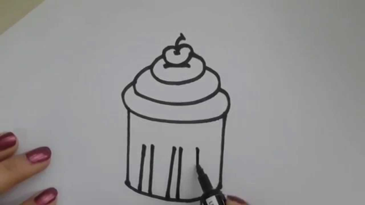 How To Draw Cupcake By Easy Draw Youtube