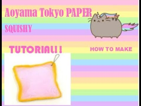 "DIY paper squishy""How to make an ibloom Aoyama tokyo squishy"""